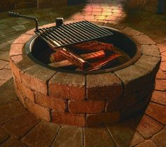 Gorgeous compact fire pit. :: Hometalk