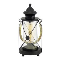 SAVE on Eglo Vintage Rope Lantern table lamp in black at PAGAZZI. Fantastic deals on Eglo table lamps. Rustic Table, Vintage Table, How To Antique Wood, Or Antique, Antique Silver, Traditional Lanterns, Black Lantern, Rustic Lanterns, Fill Light