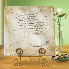 Personalized Family Tree Tile and Stand