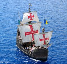 A replica of Christopher Columbus' ship Santa Maria