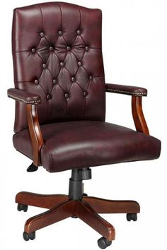 Classic Desk Chairs antique style leather office chair | english style, chesterfield