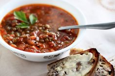 have not had lentil soup in while...good for a snowy weekend