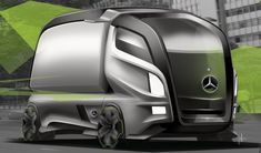 Mercedes-Benz Struktur Accelo Concept 2020 on Behance Mercedes World, Mercedes Benz Trucks, New Mercedes, Future Trucks, Future Car, Daimler Benz, Mini Bus, Heavy Truck, Expedition Vehicle