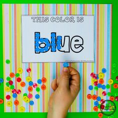 Color Worksheets Join our Email Group for Ideas, Freebies & Special Offers.Do you need fun color worksheets and centers for teaching preschool kids about col Preschool Learning Activities, Play Based Learning, Alphabet Activities, Classroom Activities, Preschool Activities, Vocabulary Activities, Spanish Activities, Teaching Spanish, Learning Centers