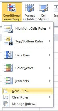 how to set up conditional formatting in excel
