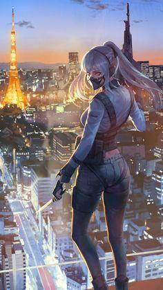 Cool Anime Girl, Kawaii Anime Girl, Anime Art Girl, Anime Warrior, Warrior Girl, Fantasy Art Women, Fantasy Girl, Chica Anime Manga, Manga Girl