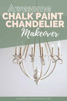 Looking for a way to transform that outdated chandelier? This easy DIY chalk paint chandelier makeover will bring your chandelier from drab to fab! Painted Chandelier, Old Chandelier, Chandelier Makeover, Kitchen Chandelier, Diy Furniture Redo, Diy Furniture Projects, Diy Home Decor Projects, Painted Furniture, Diy Home Improvement