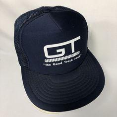 4c79d491d5a VTG Grand Trunk Railroad Trucker Hat Snapback Mesh Foam Interior Blue Cap  Mens  Speedway  BaseballCap