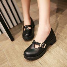 Vintage clássico mori menina 2013 grande dedo do pé fechado t strap flat de couro marrom vermelho queda das mulheres jane sapatos para o trabalho em Sapatos Flat - Masculino de Sapatos no AliExpress.com | Alibaba Group