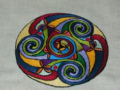 Another excellent example of split stitch embroidery - The Hillfort - Celtic Garb Embellishment