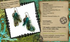 Step-by-Step Tutorial: Feather Earrings