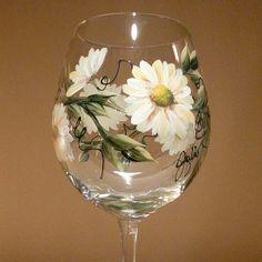 One stroke wine glass