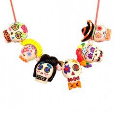 CALAVERAS Necklace Viva Mexico ! #necklace #calavera #sugarskulls