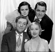 Helen Mack, Cary Grant, Edward Everett Norton, and Genevieve Tobin in Kiss and Make-Up (1934)