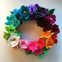 Loved crafting this felt floral wreath after inspiration from Mrs. Meyers!! http://www.mrsmeyers.com/do-it-yourself-projects/felt-flower-wreath/?utm_source=pinterest&utm_medium=social%20&utm_content=image_pro_feltflowerpin&utm_campaign=brand