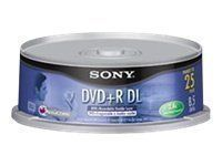 Sony DPR85RS2 - DVD+R DL x 25 - 8.5 GB - storage media (25DPR85RS2) - by Sony. $21.16. Sony DPR85RS2 - DVD+R DL x 25 - 8.5 GB - storage media (25DPR85RS2) - : Sony DPR85RS2 - 25 x DVD+R DL - 8.5 GB ( 215min ) - spindle - storage mediaProduct Description: Sony DPR85RS2 - DVD+R DL x 25 - 8.5 GB - storage mediaType: Storage media - DVD+R DLMedia Included Qty: 25Native Capacity: 8.5 GBRecording Time: 215minPackage Type: SpindleGeneralType: Storage media - DVD+R DLMedia I...