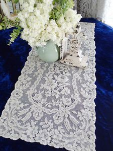 Antique-French-Alencon-Net-Lace-Table-Runner-36x15  Vintageblessings