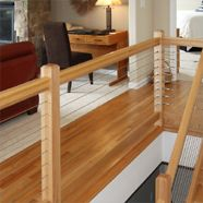 Cable Rail - Indoors.....love the modern open look
