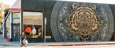 Complete Guide to Street Art Murals in Santa Monica Visit Santa, La Art, Santa Monica, Murals, Art Museum, The Neighbourhood, Street Art, Lion Sculpture, Earth