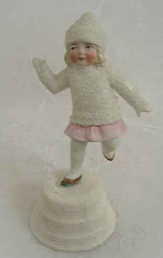 Antique Snow Baby Ice Skater