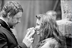 Les Misérables | Russel Crowe and Samantha Barks | He's teaching her how to box. this makes me happy:)