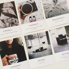 Cute polaroids with headings for Project Life #scrapbooking