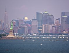 Statue of Liberty, Red Bull Air Race by tom sullivan, via Flickr