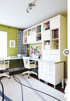 Love this work space - Looks like a lot of items from IKEA.