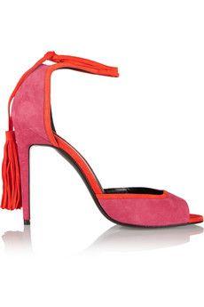 Pierre Hardy Majorelle tasseled suede sandals | THE OUTNET