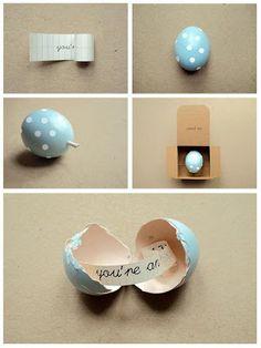 Easter DIY tutorials - messenger egg from Poppytalk