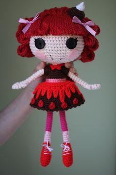 amigarumi doll hair | LALALOOPSY Choco Whirl Swirl Amigurumi Doll by Npantz22 on deviantART