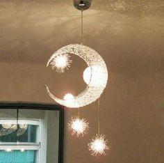 Moon & Star Children Kid Child Bedroom Pendant Lamp Chandelier Light Ceiling