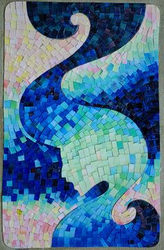 30 Mindblowing Examples of Paper Mosaic Portraits - Paper Mosaic, Mosaic Diy, Mosaic Crafts, Mosaic Projects, Mosaic Wall, Mosaic Glass, Art Projects, Mosaic Stones, Mosaic Ideas
