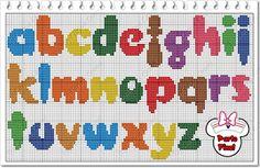 alfabeto para Minnie parte 2