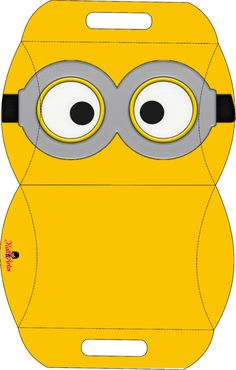 Tinker box: templates for gift boxes, boxes and Co. This template for a box is perfect for our give-aways at the Minion children& birthday party. Minion Birthday, Minion Party, My Minion, Printable Box, Free Printables, Minion Pillow, Paper Toys, Paper Crafts, Wrapping Ideas