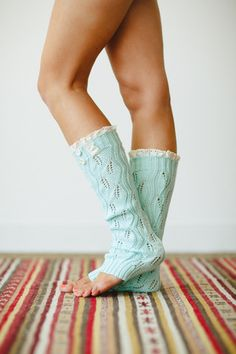 Mint Leg Warmers Button Knitted Lace Womens LegWarmers Tiffany Blue Lace Trimmed LegWarmers Womens Fashion Boot Socks via Etsy Ugg Boots Cheap, Uggs For Cheap, Bohemian Pants, Knit Leg Warmers, Crochet Trim, Crochet Lace, Boot Toppers, Lace Knitting, Tiffany Blue