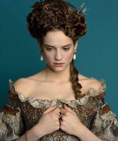"""the-garden-of-delights: """" Noémie Schmidt as Henriette, 'Madame', in Versailles (TV Series, 2015). [x] """""""