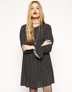 ASOS Reclaimed Vintage - Smock Dress with small floral pattern