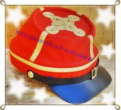 CS Chasseur Kepi rot für General  Material: außen reine Wolle, innen reine Baumwolle  Schirm und Schweißband Leder.