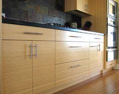 Awesome Tropical Bamboo Kitchen Cabinets
