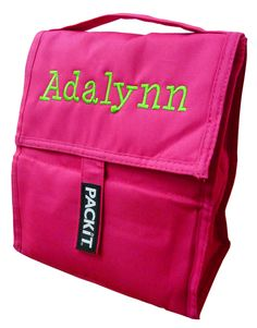 Personalized PackIt cooler lunch bag.