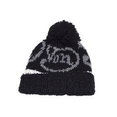 Bonnet à Pompon Von dutch Noir et Gris #bonnet #moto #vondutch #rentree #mode #vintage #usa #startups @hatshowroom