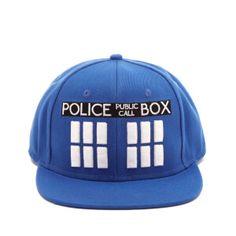 Doctor Who Men s Tardis Snapback Cap - Blue 432334626f4