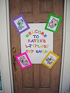 littlest pet shop welcome (thinking on art easel by the front door)
