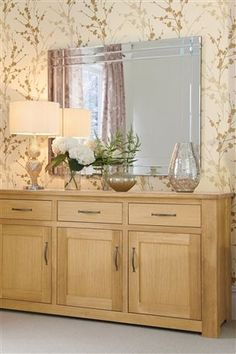 Oak Sideboard Hallway Sideboard, Oak Sideboard, Buffet Tables, Console Table, New Home Wishes, Conservatory Ideas, Lounge Ideas, Hallway Ideas, Centrepieces