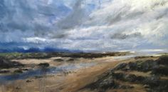 Isle of Jura from Oronsay by Jonathan Shearer Landscape Art, Landscape Paintings, Isle Of Jura, Nature Sauvage, Artist Workshop, Scottish Islands, Nature Paintings, Contemporary Artists, Online Art
