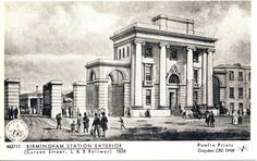 Entrance to Birmingham's Curzon Street station, September 1838 Birmingham News, Birmingham City Centre, Birmingham England, Old Pictures, Old Photos, West Midlands, What Is Like, Old Town