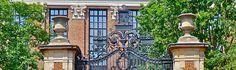 Johnston Gate, harvard yard #cambridge Harvard Yard, Cambridge Ma, Gate, Mansions, World, House Styles, Portal, Fancy Houses, Mansion