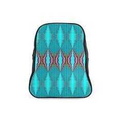 light blue pattern school bag -annabellerockz School Bag