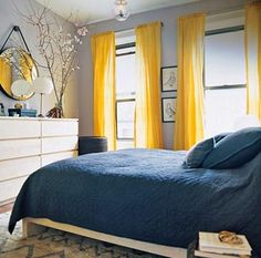 Blue Yellow Gray Bedroom Don T Like The Solid Comforter